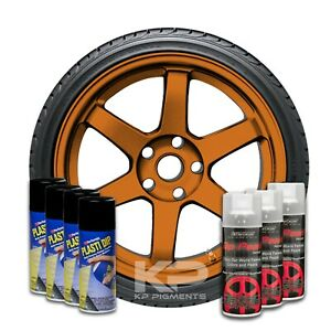 Performix Plasti Dip Pearl Wheel Kit 4 Black 3 Burnt Copper Aerosol Spray Cans