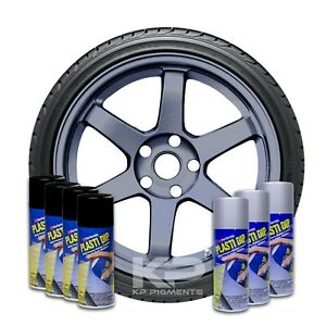 Plasti Dip Wheel Kit 4 White 3 True Metallic Anthracite Aerosol Spray Cans 11 Oz
