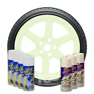 Plasti Dip Wheel Kit 4 White 3 Wimbeldon White Classic Muscle Aerosol Spray Cans
