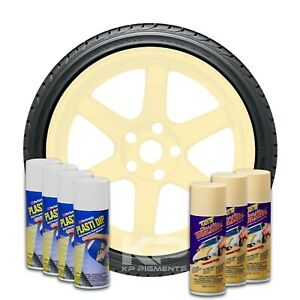 Plasti Dip Wheel Kit 4 White 3 Phoenician Yellow Classic Muscle Aerosol Cans