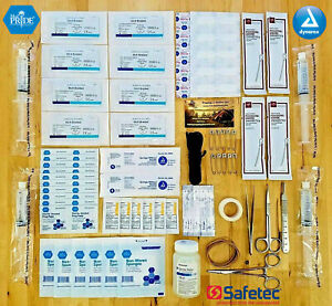 First Aid Responder Surgical Suture First Aid Kit Survival Medic Wound Care