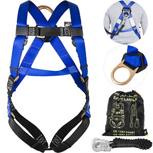 Construction Harness Lanyard Combo Protection Set Rescuers Polyester Alloy Steel