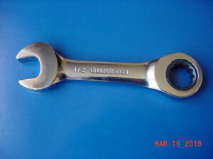 Gearwrench Stubby Racheting Comb 1 2 New