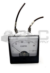Rish Vista 12g397 Analog Panel Meter 50 60hz 0 200amps Ac