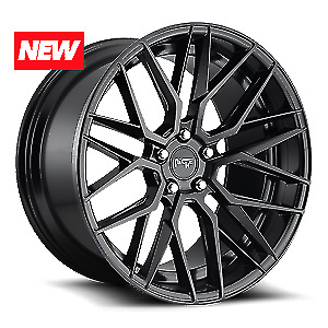 20 Niche Gamma M190 Matte Black Staggered Wheels Fits Camry Civic Mustang