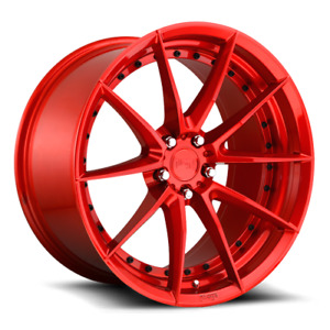 19 Niche Sector M213 Gloss Red Staggered Wheels Fits Golf Tdi Jetta