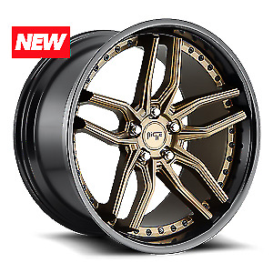 20 Niche Methos M195 Matte Bronze Staggered Wheels Fits Is300 Mustang Civic