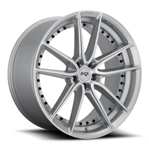 20 Niche Dfs M221 Gloss Silver Machined Staggered Wheels Fits Civic Mustang
