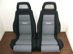 Upholstery Recaro Vw Golf Mk2 Ls c With A Gray Center Black Cover Fabric New2 Pc