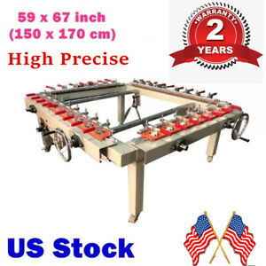 Usa High Precise 59 X 67 Pneumatic Silk Screen Printing Stretcher Equipment