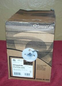 1 Box General Cable Cat5e 4pr 24awg Station Wire Gray 600 Ft Communication Bulk
