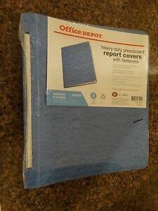 Lot 20 Office Depot Pressboard Report Covers With Metal Prongs New Letter