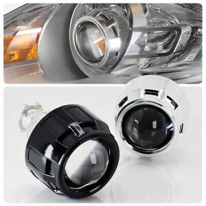 2 5 Inch H1 Hid Bixenon Projector Lens Hi lo Beam With Black chrome Shrouds