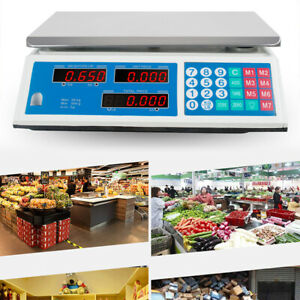 66lbs Digital Weight Scale Price Computing Retail Food Meat Scales Count usa
