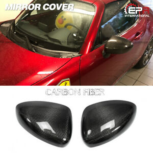 For Mazda Mx5 Nd5rc Miata Roadster Oem Carbon Fiber Mirror Cover Stick On 2pcs