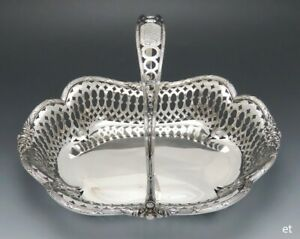 Fine Quality Sterling Silver Je Caldwell Pierced Decorative Basket