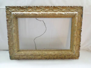 Picture Frame Antique Ornate Victorian Gold Wood Gesso 22 5 X 16 5 Ss