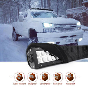 Universal Straight Curved 42 Led Light Bar Cover Weather Protective Gear Sleeve