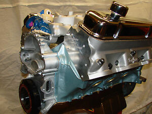 461 650hp Pontiac High Perf Balanced Crate Engine With Kauffman Heads 468 495