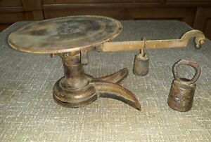 Vintage Cast Iron Brass 1 5 Pound Candy Scale Chicago Scale Co Little Detective