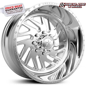 American Force Kash Ss8 Polished 22 x12 Truck Wheels Rims 8 Lug set Of 4