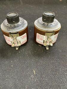 Pair Of Staco Type 251 Variable Autotransformer Panel Mount Variac