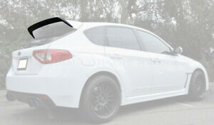 Add On Rear Roof Wing Spoiler Gurney Flap Extension For 08 14 Subaru Wrx
