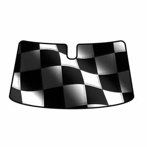 Intro tech Racing Flag Windshield Sun Shade For Chevrolet 2009 2011 Corvette