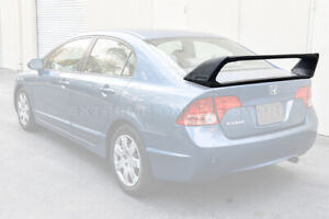 Mugen Rr Style Primer Black Rear Trunk Wing Spoiler For 06 11 Honda Civic Sedan