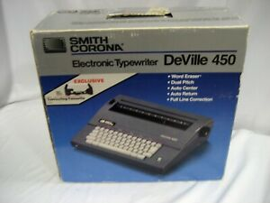 New Smith Corona Deville 450 Typewriter W spell Check Built In So Many Features