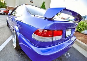 Mugen Style Primer Black Rear Trunk Lid Wing Spoiler For 96 00 Honda Civic Coupe
