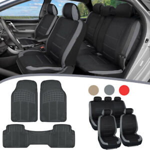 Stylish Car Seat Covers With Rubber Floor Mats Heavyduty Universal Fit Accessory