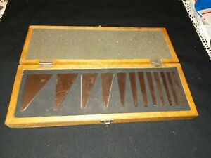 Import 12 piece Steel Angle Gauge Block Set With Case