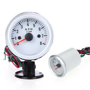 Tachometer Tach Gauge With Holder Cup Led For Auto Car 2 52mm 0 8000rpm G1e2