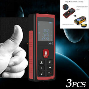 3 Pcs 80m Laser Distance Measurer Portable Measurer Applied To Construction