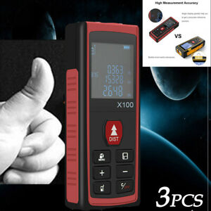 3 Pcs 100m Laser Distance Measurer Portable Measurer Applied To Construction