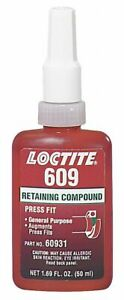 Loctite Retaining Compound 1 69 Oz Bottle 2300 Shear Strength psi 65 To