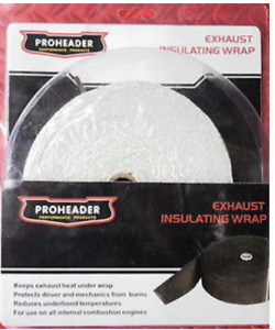 Pro Header White Exhaust Insulating Wrap 2 X 33 Ph405 With Metal Cable Ties