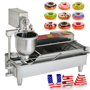 Commercial Electric Automatic Doughnut Donut Machine Maker Fryer 3mold Sweetener
