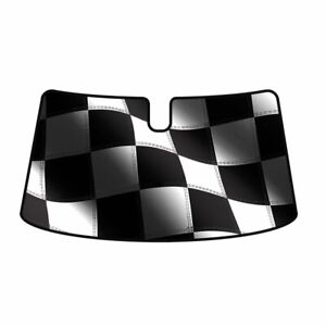 Intro Tech Racing Flag Windshield Sun Shade For Ford 2019 Edge Fd 910