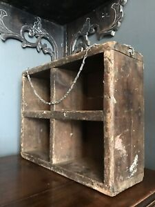 Vintage 1930 S Wooden Compartment Display Box On A Chain