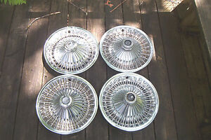 Set Of 4 Oe 14 Inch Wire Wheelcovers 371 Cuda Challenger Dart Charger Others
