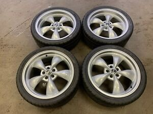 Set Of 4 Used 20 20 X 8 5 Factory Oem Mustang Wheels W 265 35 20 Nitto Tires
