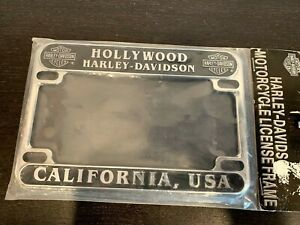 Rare Hollywood California Harley Davidson License Plate Frame Unused