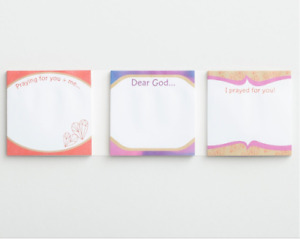 Inspirational Sticky Memo Note Pads Sticky Prayers 2 Designs Lot Of 10