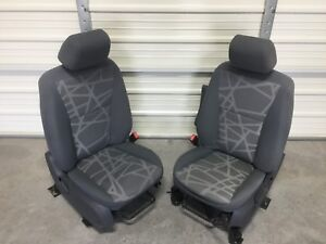 2009 2013 Ford Transit Connect Van Front Seats Gray Cloth