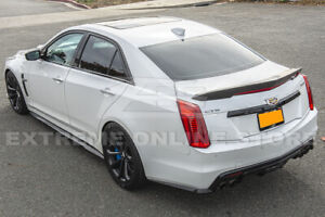Carbon Fiber Package Style Rear Trunk Lid Wing Spoiler For 16 up Cadillac Cts v
