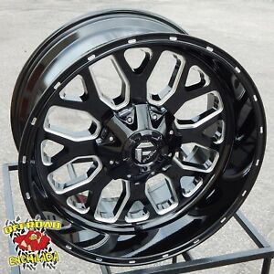 22x10 Black D588 Fuel Titan Wheels Rims 2019 Dodge Ram 1500 Hemi 6x5 5 Tacoma