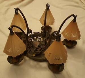 Art Deco Slip Shade Chandelier 2