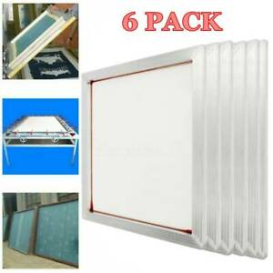 6 Pack 20 x 24 Aluminum Frame With 110 Mesh Silk Screen Printing Screens
